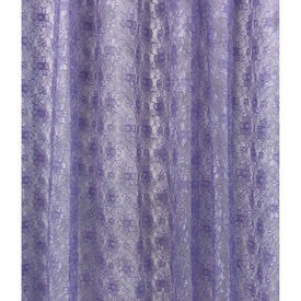 """Pr Nets 4'2"""" x 4' Lilac Small Floral Silky Poly-lace"""
