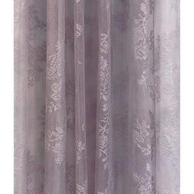 "Pr Nets 4'2"" x 3'9"" Lilac Floral Sprays Lace"