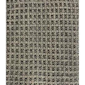 "Panel 4'8"" x 8' Dark Sand Geo Heavy Cotton Macrame / Fringed"