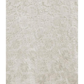 "Pr Nets 4'3"" x 3' Ivory All Over Floral Poly-Lace"