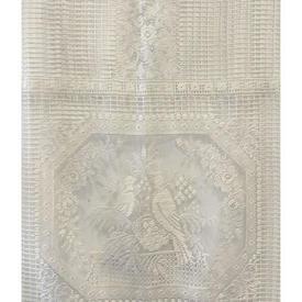 "Panel 4'10"" x 2'3"" Ivory Bird Tile Lace"