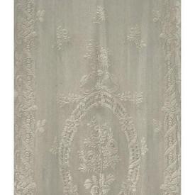 """Pr Panels 4'3"""" x 2' Ivory Floral Medallion Lace"""