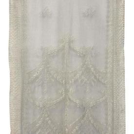 "Pr Panels 4'1"" x 2' Ivory Ribbons & Bows Lace"