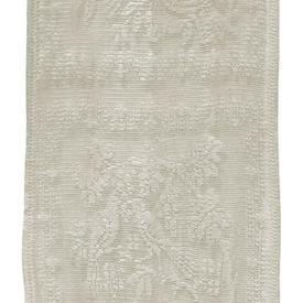 "Pr Panels 4'1"" x 2' Cream Bird & Floral Lace Squares"