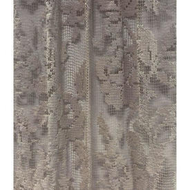 Panel 4' x 3' Beige Floral Stripe Heave Cotton Macrame
