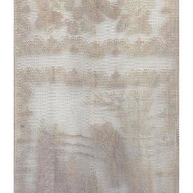 "Pr Panels 4' x 1'9"" Coffee Geo Floral & Bird Lace"