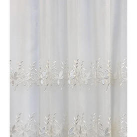 "Leg Net 4'1"" x 27'6"" Ivory Voile / Silky Floral Emb"