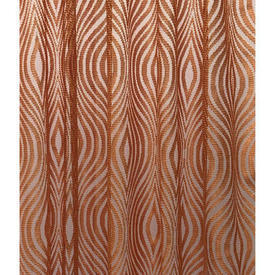 "Pr Nets 4'5"" x 4'8"" Orange Psychedlic Wave Patt Poly-Lace"