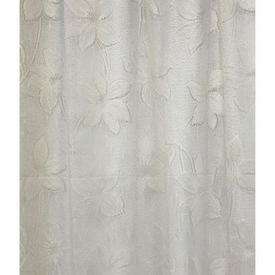 "Pr Nets 4'1"" x 11' Pale Cream Floral Vine Poly-Lace"