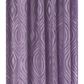 "Pr Nets 4'5"" x 4'9"" Lavender Psychedlic Wave Patt Poly-Lace"