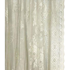 "Pr Nets 4'1"" x 4'6"" Cream Roses Scroll Lace"