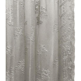 "Pr Nets 4' x 3'7"" Off White Rosebud Lace"