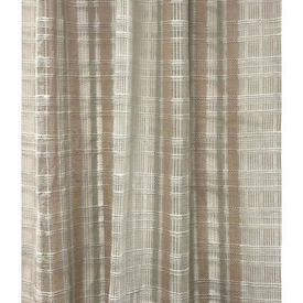 "Pr Nets 4'7"" x 4'9"" Stone Beige Check Vision Weave"
