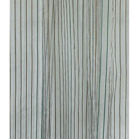 "Pr Nets 10'6"" x 6'6"" Aqua / Bronze Silky Pinstripe Organza"