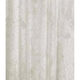 "Pr Nets 14' x 5'4"" Ivory Floral & Bird Madras Lace"
