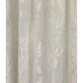 "Pr Nets 9'8"" x 5'6"" Cream Large Floral Madras Lace"