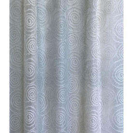 "Pr Nets 9'9"" x 5' Sky Faded Swirl Patt Poly-Lace"
