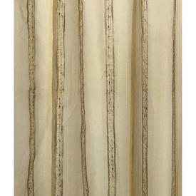 "Pr Nets 10' x 3'8"" Yellow / Gold Stripe Organza"