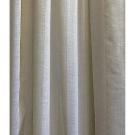 "Pr Nets 9'6"" x 5' Cream / Pale Green Wide Stripe Voile"