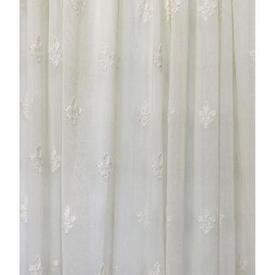 "Pr Nets 9'7"" x 5'4"" Cream Small Fleur De Lys Madras Lace"