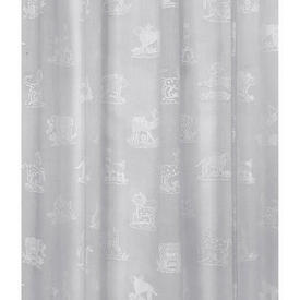 "Pr Panels 5'3"" x 1'9"" White Animal Print Voile"