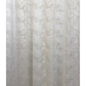 """Pr Nets 5'6"""" x 4' Cream All Over Floral Poly-Lace"""