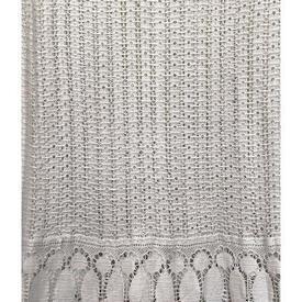 """Leg Net 5'9"""" x 8' Dirty White Crochet / Circ Lace Inset"""