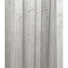 Leg Net 5' x 10' White All Over Floral & Leaf Poly-Lace