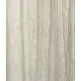 "Pr Nets 5'1"" x 4' Cream Leaf Scroll Madras Lace"