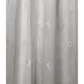 "Pr Nets 6' x 3'9"" Dirty White Silky Butterfly Motif Voile"