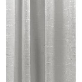 """Leg Net 5'4"""" x 9' White Geo Textured Linen Effect"""