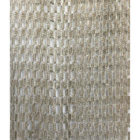 "Pr Nets 6'9"" x 4' Oatmeal Woolly Ladder Patt Weave (Tatty)"