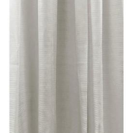 "Pr Nets 5'3"" x 5' Off White Horizontal Stripe Voile"