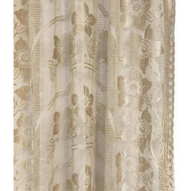 "Panel 6' x 3'3"" Cream Silky Floral Lace"