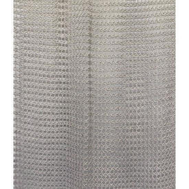 "Pr Nets 6'8"" x 3' Pale Grey Small Geo Heavy Crochet / Fringed"