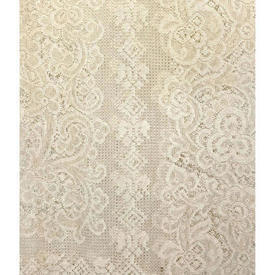 "Pr Nets 6'9"" x 3'8"" Buttermilk Floral Lace"