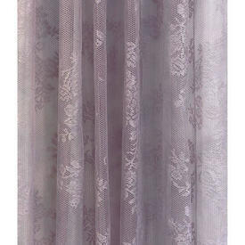 "Pr Nets 6'4"" x 9' Lilac Floral Sprays Lace"