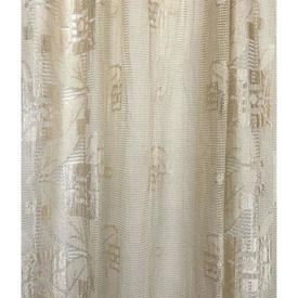 "Panel 6'9"" x 2'10"" Cream Geo Leaf Silky Lace"