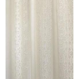 "Pr Nets 8'3"" x 5'6"" Cream Scroll Stripe Madras Lace"