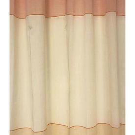 """Pr Nets 7'6"""" x 3'6"""" Pale Orange / Yellow Block Stripe Muslin / Tie Top"""