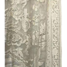 "Panel 7'6"" x 5' Buttermilk Floral & Bird Lace"