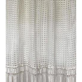 "Panel 7'6"" x 4'6"" Cream Geo Crochet / Crochet Lace Skirt"