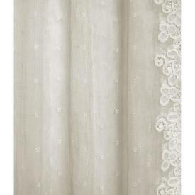 "Pr Nets 7'9"" x 4' Cream Spot Cotton Lace"