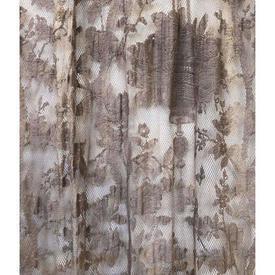 "Pr Nets 7'9"" x 5' Aged Dark Grey Floral Lace"