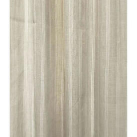 "Pr Nets 8' x 3'6"" Cream Stripe Muslin"