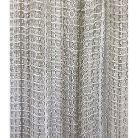 "Pr Nets 7'1"" x 4' Ivory / Beige Stripe Woolly Vision"