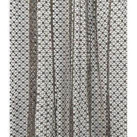 "Pr Nets 7' x 5'6"" Dark Grey Small Geo Lace"