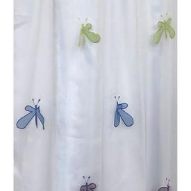 """Pr Nets 7'4"""" x 4' White / Multi Kryp Slanda Butterflies Voile"""