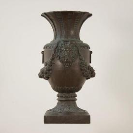 "2'11"" Bronze Effect Decorated Urn (H88Cm)"
