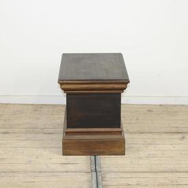 "1'4"" Rectangular Low Brown Painted Stepped Plinth (W40Cm  x  D62Cm  x  H46Cm)"